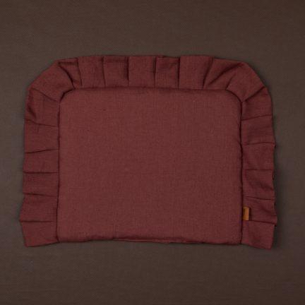 poduszka z falbanka roz